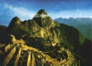 En tournant cette image du Machu Picchu on a la surprise de découvrir un visage...